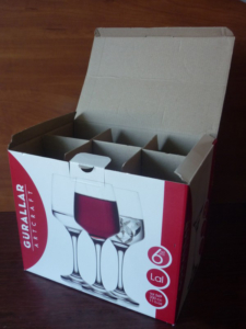 Коробка от рюмок для свадебного сундука
