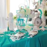 Бирюзовая цветовая гамма на свадьбе