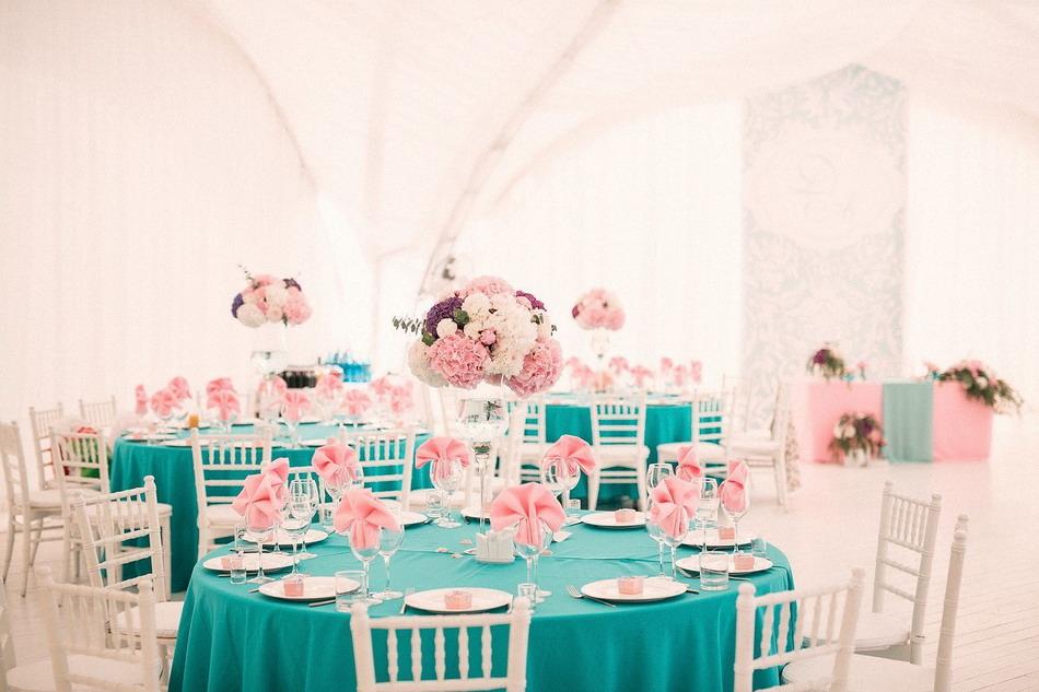 Свадьба в бирюзово-розовом цвете