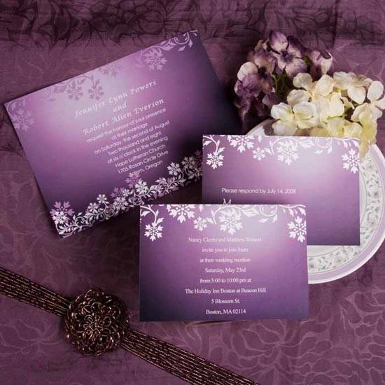 Приглашения на свадьбу идеи фиолетовые