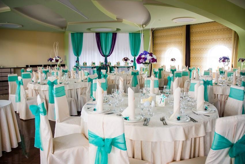 Свадьба в бирюзовом цвете оформление зала