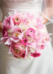свадебный нежный букет