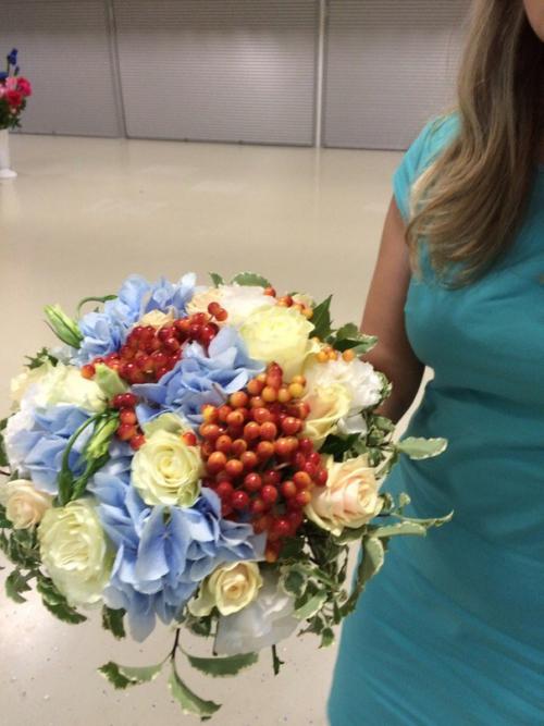 Свадебный букет с гортензией №28