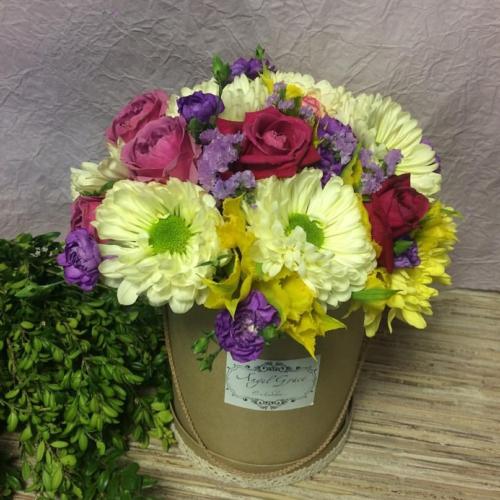 Коробка с цветами №015